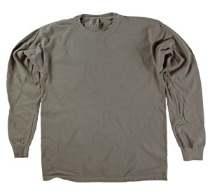 RGRiley | Comfort Color Marginal Chocolate Long Sleeve T-Shirts | Closeout