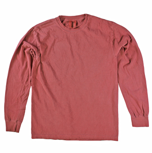 RGRiley | Comfort Color Marginal Crimson Long Sleeve T-Shirts | Closeout