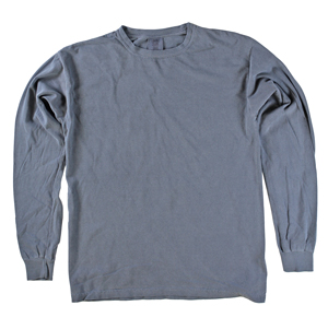 RGRiley | Comfort Color Marginal Denim Long Sleeve T-Shirts | Closeout