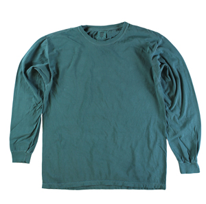 RGRiley | Comfort Color Marginal Emerald Long Sleeve T-Shirts | Closeout