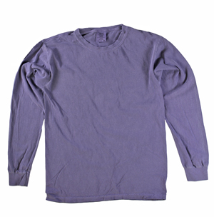 RGRiley | Comfort Color Marginal Grape Long Sleeve T-Shirts | Closeout