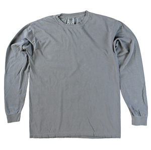 RGRiley | Comfort Color Marginal Grey Long Sleeve T-Shirts | Closeout