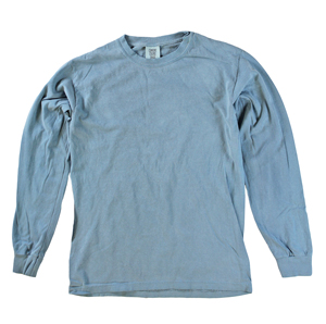 RGRiley | Comfort Color Marginal Ice Blue Long Sleeve T-Shirts | Closeout