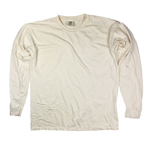 RGRiley | Comfort Color Marginal Ivory Long Sleeve T-Shirts | Closeout