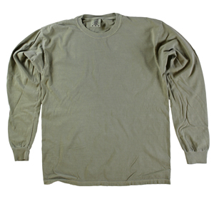RGRiley | Comfort Color Marginal Khaki Long Sleeve T-Shirts | Closeout