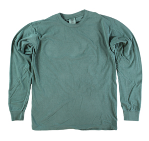 RGRiley | Comfort Color Marginal Light Green Long Sleeve T-Shirts | Closeout
