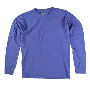 RGRiley | Comfort Color Marginal Neon Blue Long Sleeve T-Shirts | Closeout