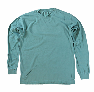 RGRiley | Comfort Color Marginal Sea Foam Long Sleeve T-Shirts | Closeout