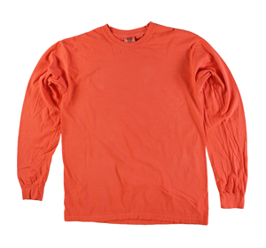 RGRiley | Comfort Color Marginal Bright Salmon Long Sleeve T-Shirts | Closeout