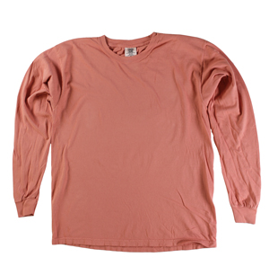 RGRiley | Comfort Color Marginal Terracota Long Sleeve T-Shirts | Closeout