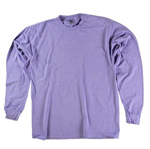 RGRiley | Comfort Color Marginal Violet Long Sleeve T-Shirts | Closeout