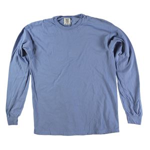 RGRiley | Comfort Color Marginal Washed Denim Long Sleeve T-Shirts | Closeout