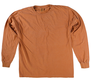 RGRiley | Comfort Color Marginal Yam Long Sleeve T-Shirts | Closeout