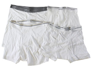 RGRiley | Mens White Boxer Brief Undewear | Mixed Quality
