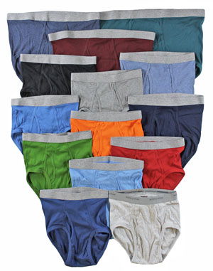 RGRiley | Mens Assorted Color Briefs Underwear | Mixed Quality