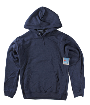RGRiley | Mens Navy Heather Fleece Hooded Sweatshirts | Closeout