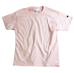 RGRiley | Champion Boys Pale Pink Short Sleeve T-Shirts | Closeout