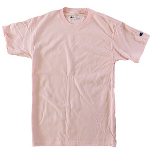 RGRiley | Champion Mens Pale Pink Short Sleeve T-Shirts | Closeout