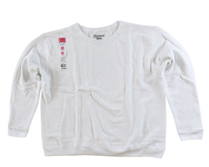 RGRiley.com | Womens Bulk Fleece Crew Necks | Hanes White | Closeout