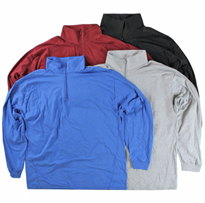 RGRiley | Mens 1/4 Zipper Mock Neck Sweatshirts | Irregular