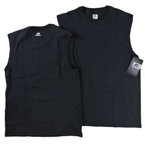 RGRiley | Mens Russell Black Muscle Shirts | Closeout
