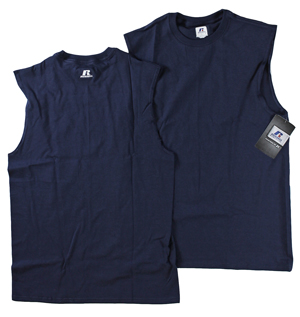 RGRiley | Mens Russell Navy Muscle Shirts | Closeout