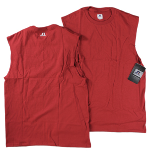 RGRiley | Mens Russell Red Muscle Shirts | Closeout
