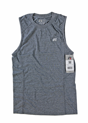 RGRiley | Russell Athletic Mens Metal Grey Heather Muscle T-Shirts | Closeout