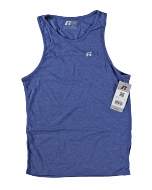RGRiley | Mens Russell Athletic Royal Heather Tank Tops | Closeout