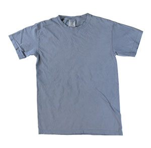 RGRiley | Mens Comfort Color Blue Jean Short Sleeve T-Shirts | Mill Graded