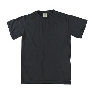 RGRiley | Mens Comfort Color Black Short Sleeve T-Shirts | Mill Graded