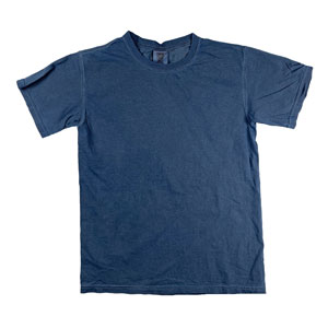 RGRiley | Mens Comfort Color China Blue Short Sleeve T-Shirts | Mill Graded