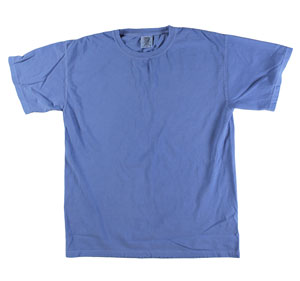 RGRiley | Mens Comfort Color Flo Blue Short Sleeve T-Shirts | Mill Graded