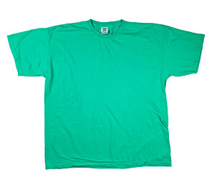RGRiley | Comfort Color Mens Island Green Short Sleeve T-Shirts | Mill Graded
