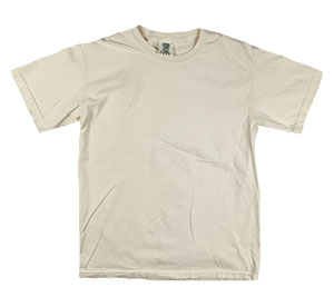 RGRiley | Mens Comfort Color Ivory Short Sleeve T-Shirts | Mill Graded
