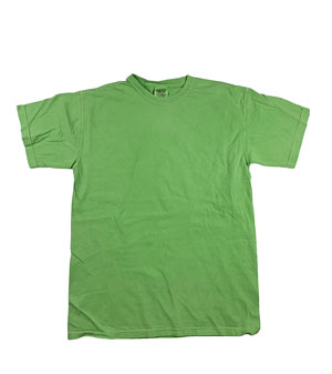 RGRiley | Mens Comfort Color Neon Green Short Sleeve T-Shirts | Mill Graded