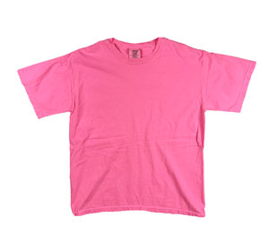 RGRiley | Mens Comfort Color Neon Pink Short Sleeve T-Shirts | Mill Graded