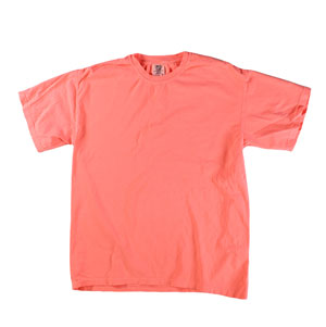 RGRiley | Mens Comfort Color Neon Red Orange Short Sleeve T-Shirts | Mill Graded