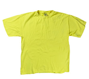 RGRiley | Mens Comfort Color Neon Yellow Short Sleeve T-Shirts | Mill Graded