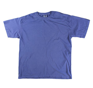 RGRiley | Mens Comfort Color Periwinkle Short Sleeve T-Shirts | Mill Graded