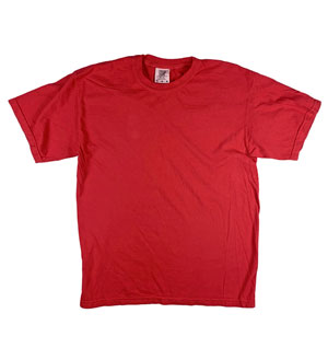 RGRiley | Mens Comfort Color Red Short Sleeve T-Shirts | Mill Graded