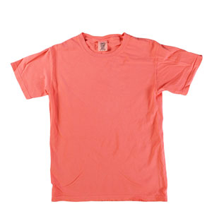 RGRiley | Mens Comfort Color Salmon Short Sleeve T-Shirts | Mill Graded