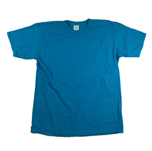 RGRiley | Mens Comfort Color Topaz Blue Short Sleeve T-Shirts | Mill Graded
