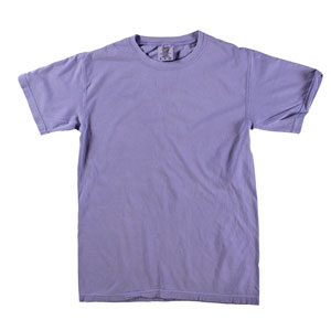 RGRiley | Mens Comfort Color Violet Short Sleeve T-Shirts | Mill Graded