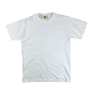 RGRiley | Mens Comfort Color White Short Sleeve T-Shirts | Mill Graded