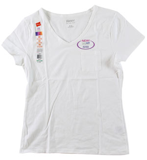 RGRiley | Womens White Pocket T-Shirts | Closeout