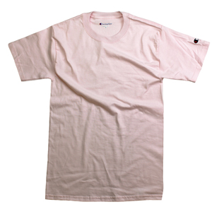 RGRiley.com | Adult Pale Pink Champion T-Shirts | Closeout