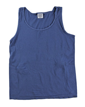 RGRiley | Comfort Color Mens China Blue Tank Tops | Closeout | Marginal