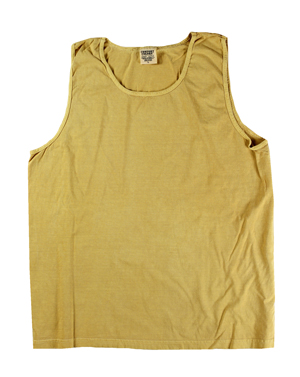 RGRiley | Comfort Color Mens Mustard Tank Tops | Closeout | Marginal