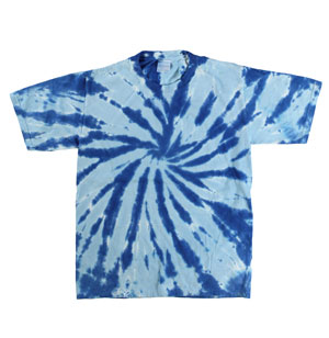 RGRiley | Youth Blue Tie Dye Tee Shirts | Slightly Irregular